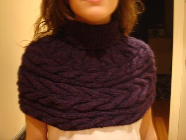 Capas tejidas con cuello - Imagui