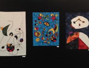 El quilt de la derecha es el segundo Premio: Rosa Estrada! Felicidades Rosa!